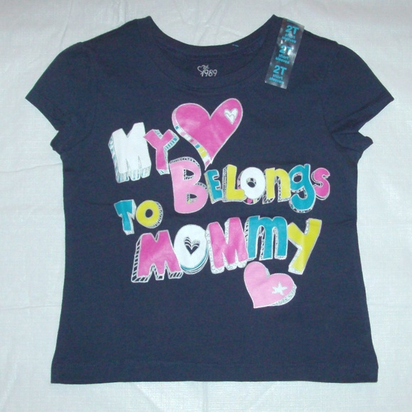 9f38f4ce The Children's Place Shirts & Tops | My Heart Belongs To Mommy ...